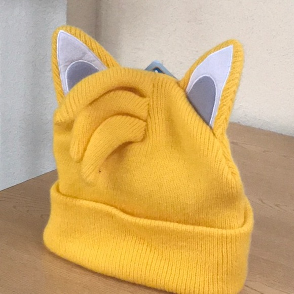 sports shoes bf15d 1ea33 Yellow cosplay cute sonic tails beanie ears cute